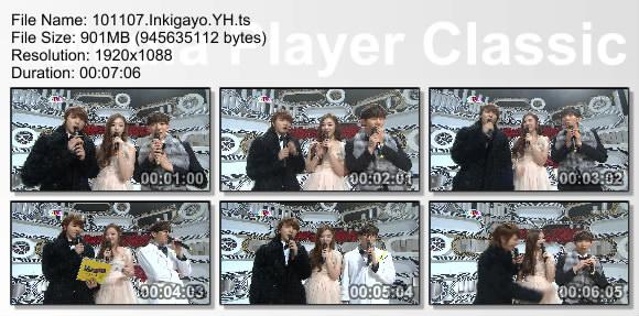 101107.Inkigayo.YH