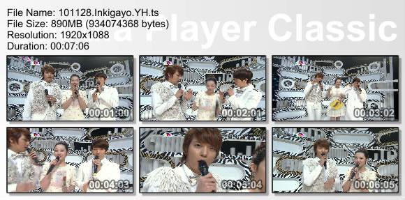 101128.Inkigayo.YH